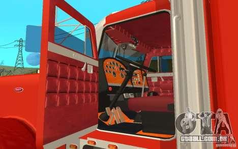 Peterbilt 379 Custom Coca Cola para GTA San Andreas vista traseira
