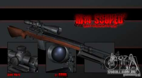 M14 Sniper para GTA San Andreas segunda tela