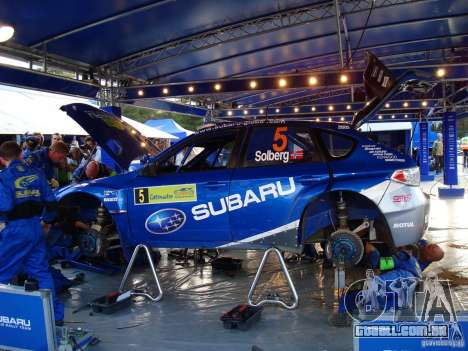 Novo vinil para Subaru Impreza WRX STi para GTA San Andreas vista traseira