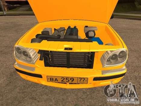 Volga GAZ-31105 táxi para vista lateral GTA San Andreas