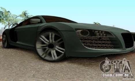 Audi R8 LeMans para GTA San Andreas vista interior