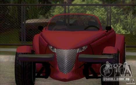Plymouth Prowler para GTA San Andreas esquerda vista