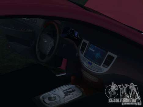 Hyundai Genesis para GTA San Andreas interior