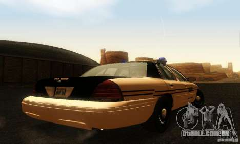 Ford Crown Victoria Tennessee Police para GTA San Andreas esquerda vista