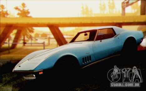 Chevrolet Corvette C3 Stingray T-Top 1969 para GTA San Andreas vista direita