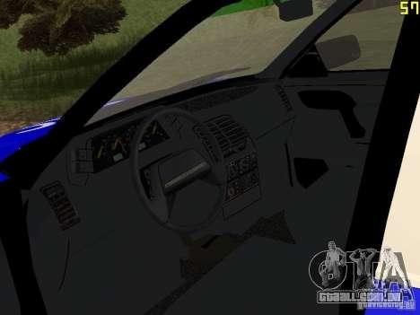 DPS VAZ 21124 para GTA San Andreas vista traseira