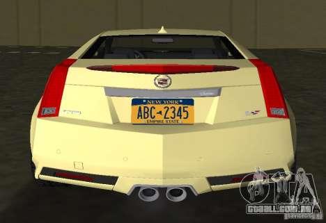 Cadillac CTS-V Coupe para GTA Vice City vista traseira