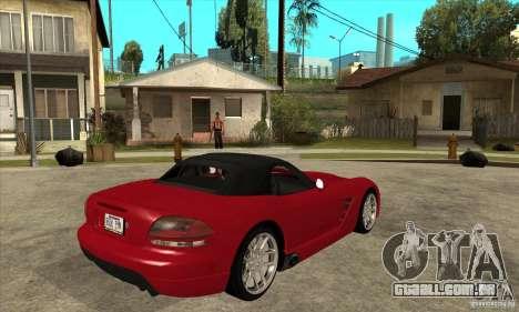 Dodge Viper SRT-10 para GTA San Andreas vista direita