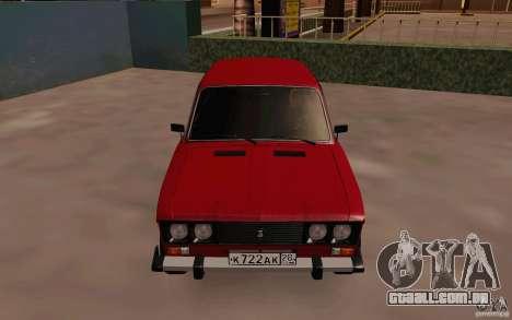 Dreno de 2106 VAZ para GTA San Andreas vista interior