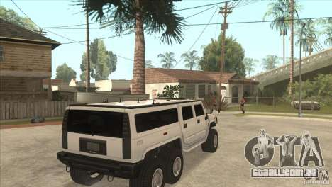 Hummer H6 para GTA San Andreas vista direita