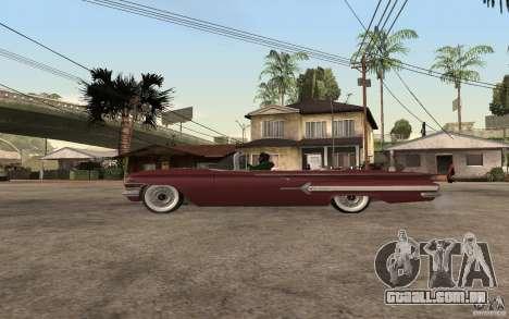 Chevrolet Impala 1960 para GTA San Andreas esquerda vista