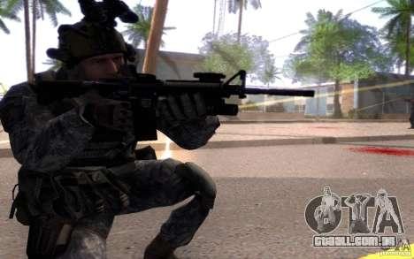 CPL. Dunn para GTA San Andreas terceira tela