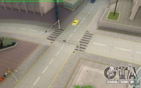 Estradas concretas de Los Santos Beta para GTA San Andreas quinto tela