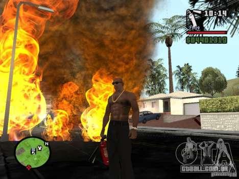 Novo extintor de incêndio para GTA San Andreas por diante tela