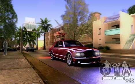Bentley Arnage para vista lateral GTA San Andreas