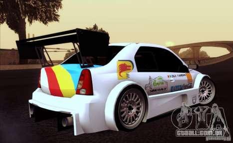 Dacia Logan Trophy Edition 2005 para GTA San Andreas vista interior