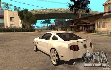 Ford Shelby GT500 para GTA San Andreas traseira esquerda vista