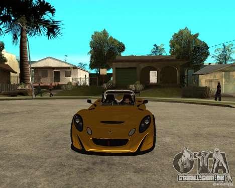 Lotus 2-Eleven para GTA San Andreas vista traseira