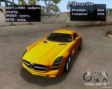 Mercedes-Benz SLS AMG V12 TT Black Revel para GTA San Andreas vista inferior