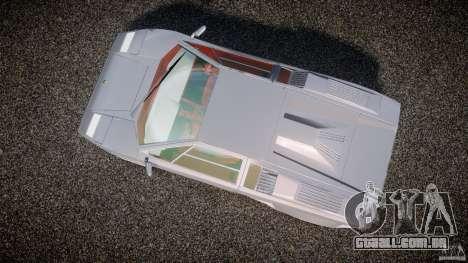 Lamborghini Countach para GTA 4 vista direita