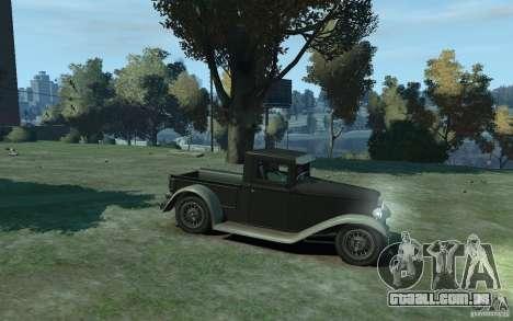 Ford Pickup 1930 para GTA 4 vista de volta