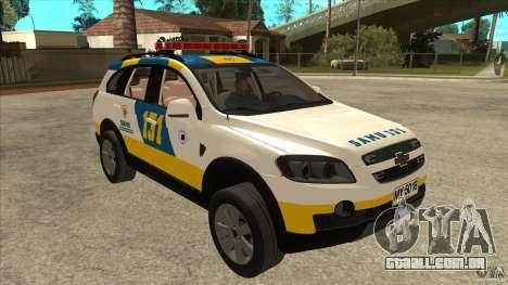 Chevrolet Captiva Police para GTA San Andreas vista traseira