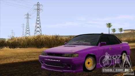 Subaru Legacy Drift Union para GTA San Andreas traseira esquerda vista