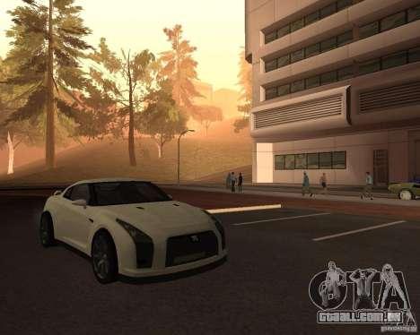 Nissan GT-R Pronto para GTA San Andreas vista direita