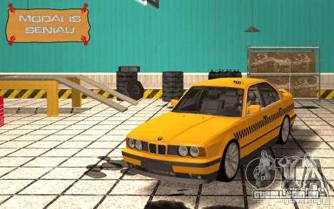 BMW E34 535i Taxi para GTA San Andreas vista interior