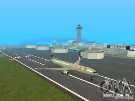 Boeing 767-300 Air Canada para GTA San Andreas esquerda vista
