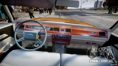 Ford Crown Victoria 1983 para GTA 4 vista direita