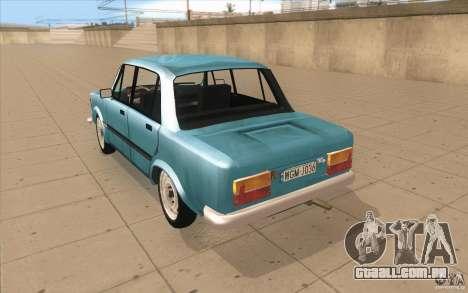Fiat 125p para GTA San Andreas traseira esquerda vista