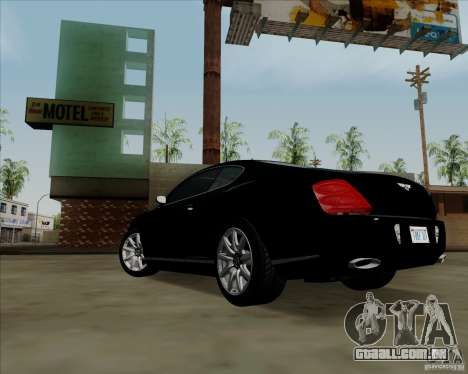 Bentley Continental GT V1.0 para GTA San Andreas interior