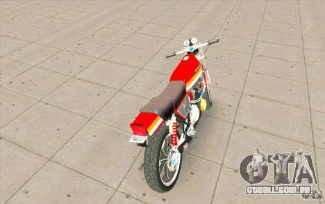 Kawasaki Z400FX para GTA San Andreas traseira esquerda vista