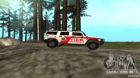 HUMMER H2 Amulance para GTA San Andreas esquerda vista