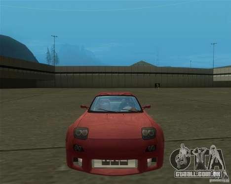 Mazda RX-7 weapon war para GTA San Andreas traseira esquerda vista