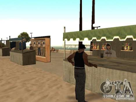 Mercado na praia para GTA San Andreas nono tela