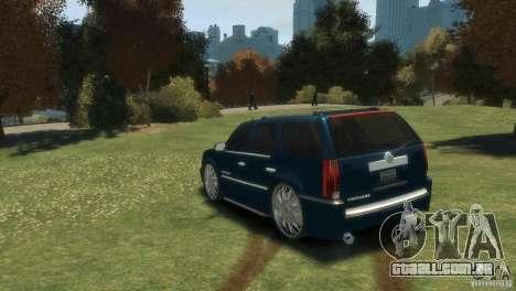 Cadillac Escalade Dub para GTA 4 traseira esquerda vista