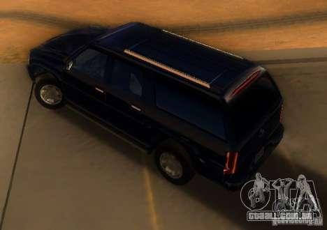 Cadillac Escalade ESV 2006 para GTA San Andreas traseira esquerda vista