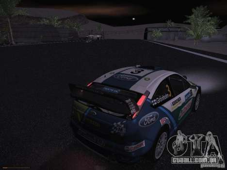 Ford Focus RS WRC 2006 para GTA San Andreas interior