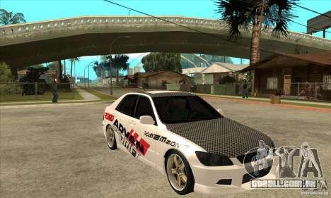 Lexus IS300 Tunable para GTA San Andreas vista traseira