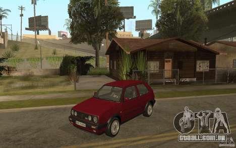 VW Golf Mk2 GTI para GTA San Andreas vista traseira