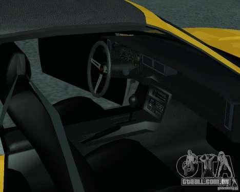 Chevrolet Camaro 1992 para GTA San Andreas vista direita
