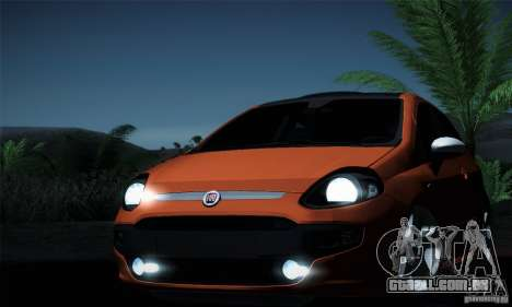 Fiat Punto Evo 2010 Edit para GTA San Andreas vista inferior