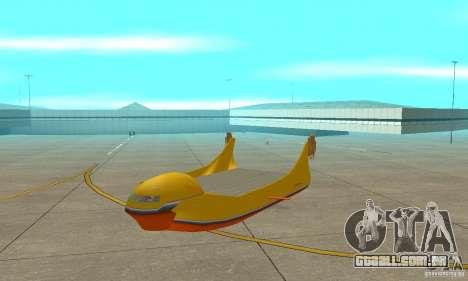 Plataforma aérea transportadora para GTA San Andreas esquerda vista
