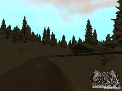 Trilha de inverno para GTA San Andreas por diante tela