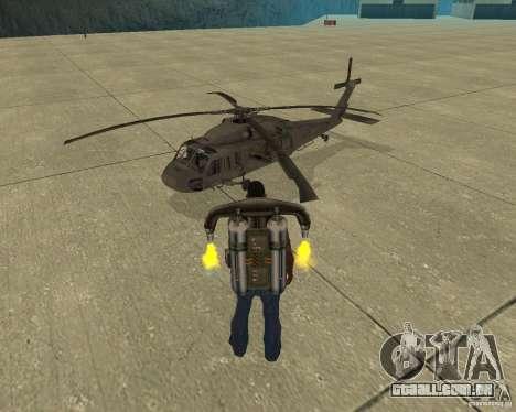 Transporte aéreo de Pak para GTA San Andreas vista inferior