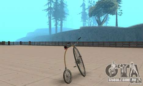 Penny-Farthing Ordinary Bicycle para GTA San Andreas esquerda vista