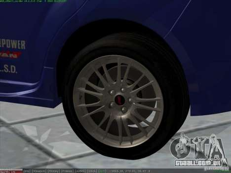 Subaru Impreza para GTA San Andreas vista superior