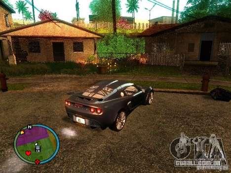 Lotus Exige - Stock para GTA San Andreas esquerda vista